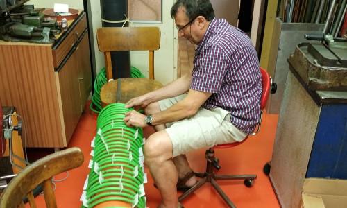 Prof. Yakov Krasik works on the inductor design