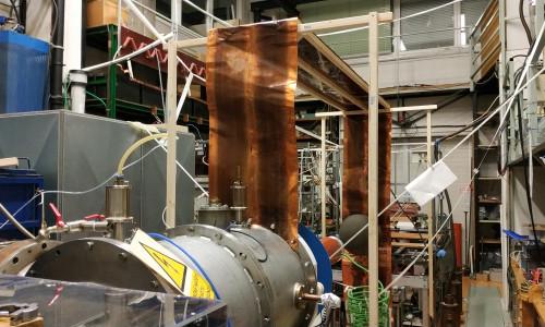 High voltage generator experiment installation