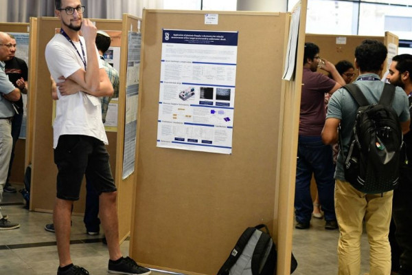 Daniel Maler our MSC. student  present a poster